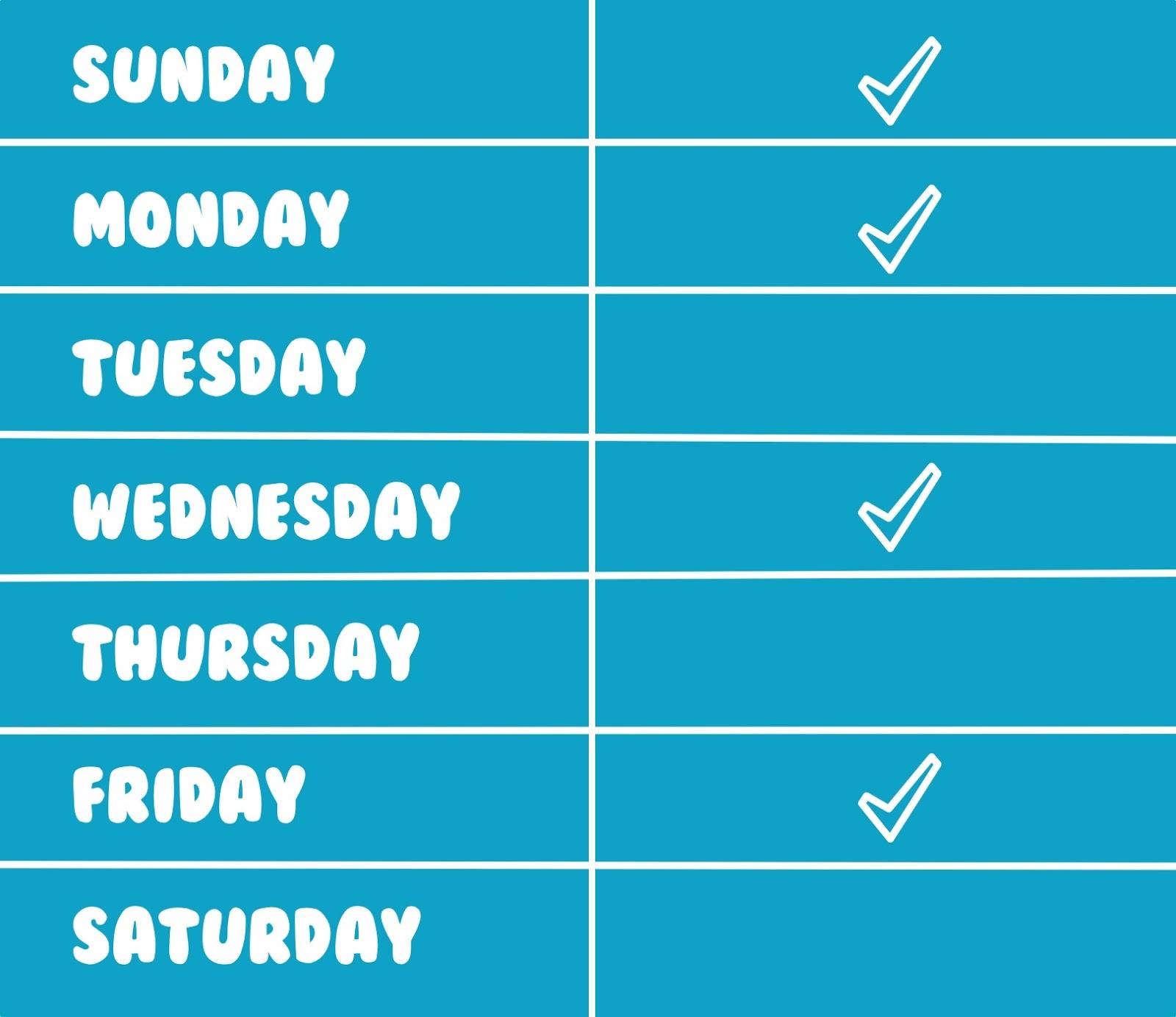 posting schedule