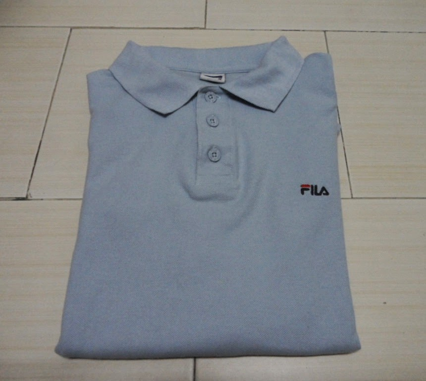 Clayback Bush Thrift Store Polo T Shirt Fila Grey Polo