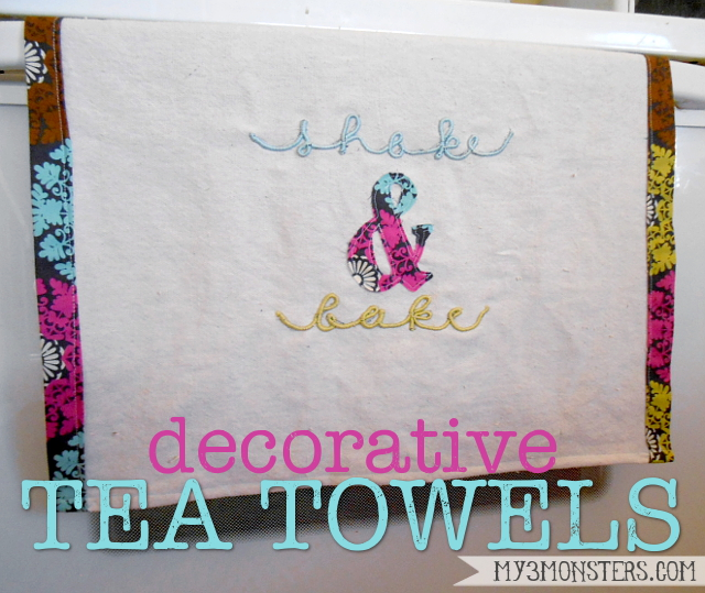 Decorative Embroidered Tea Towels at my3monsters,com