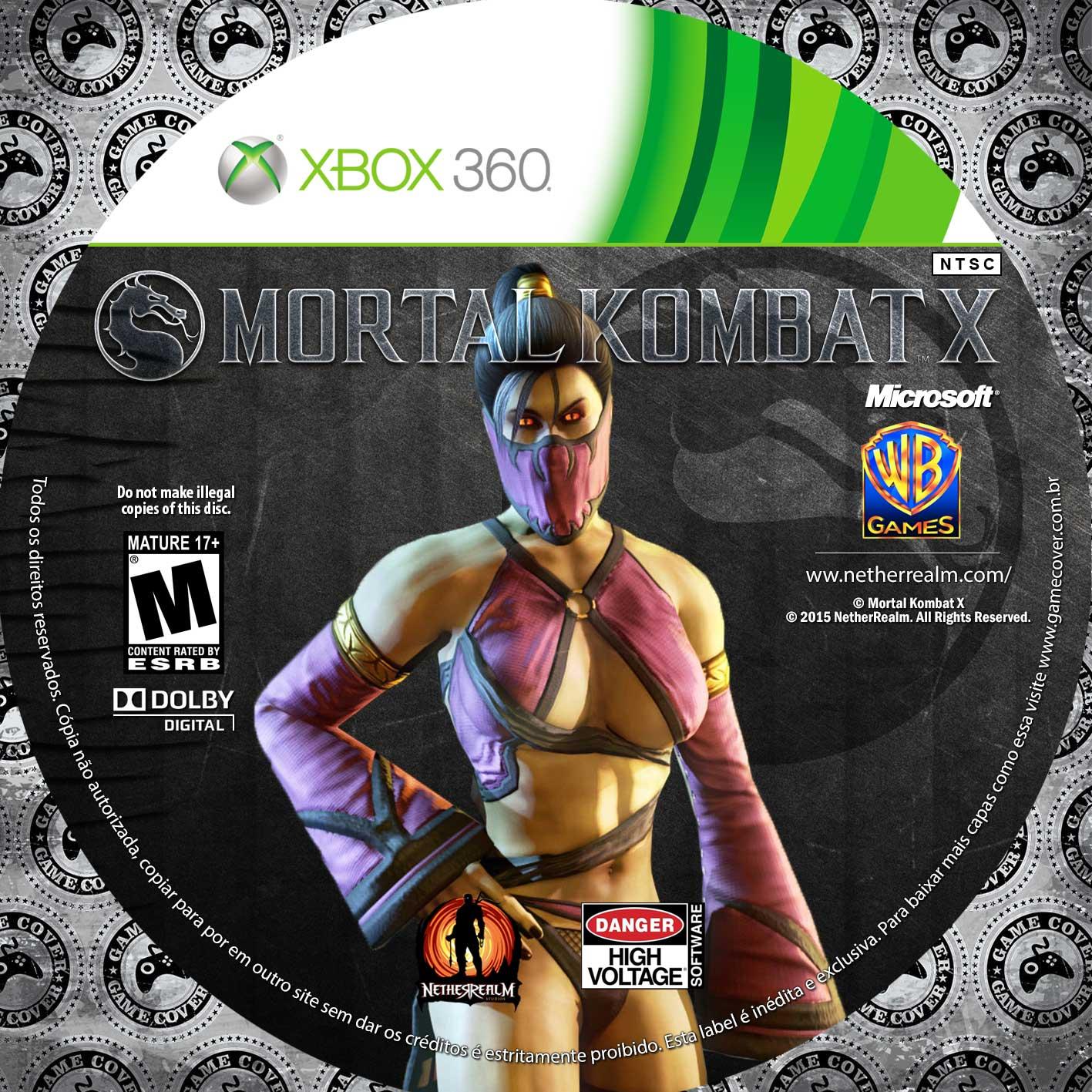 Label Mortal Kombat X Xbox 360 [Exclusiva]