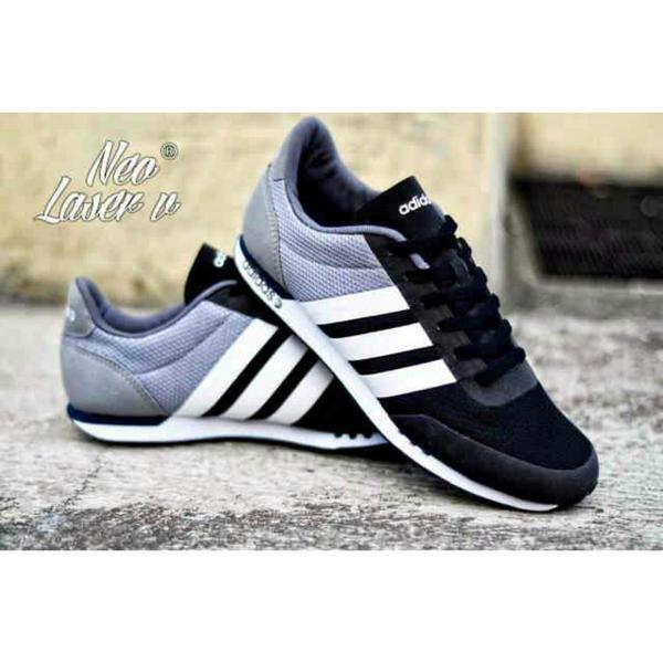 Sepatu Adidas NEO V Racer Black Grey