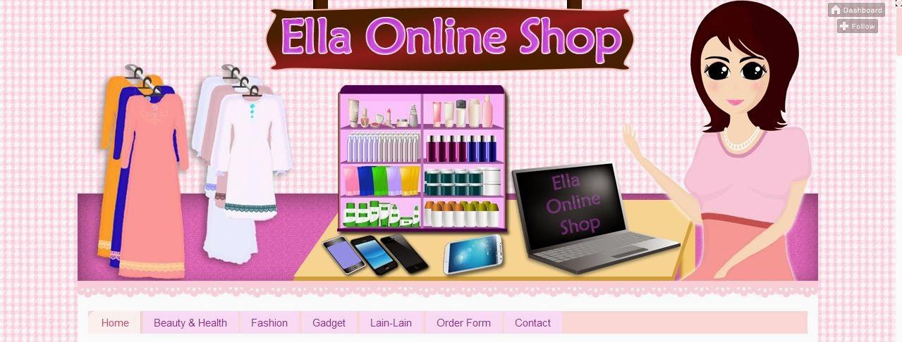 Tempahan Design Blog Ella Online Shop