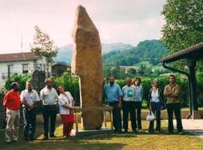 Con las arqueólogas Mª A. Beguiristain,  Primi Bueno y Rosa Barroso