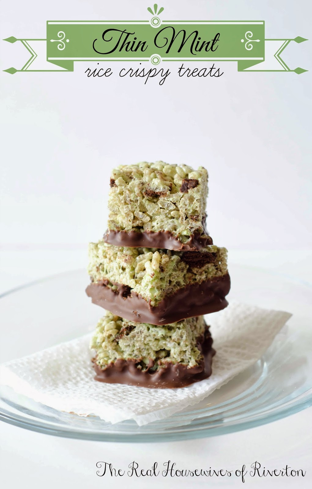 Thin Mint Rice Krispie Treats from The Housewives of Riverton
