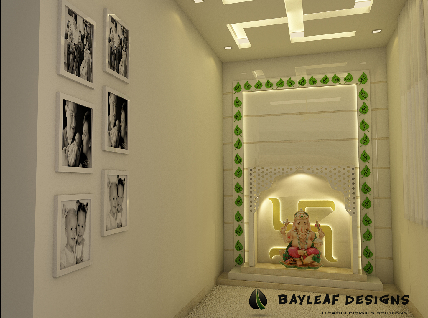 Mandir ashok vihar bayleaf designs for Room design images