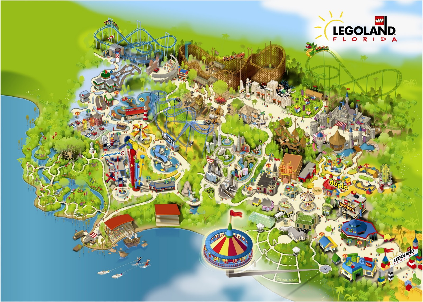 Legoland Florida Map Images
