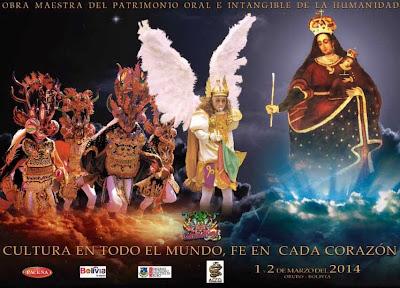 Afiche y Programa Oficial Carnaval de Oruro 2014