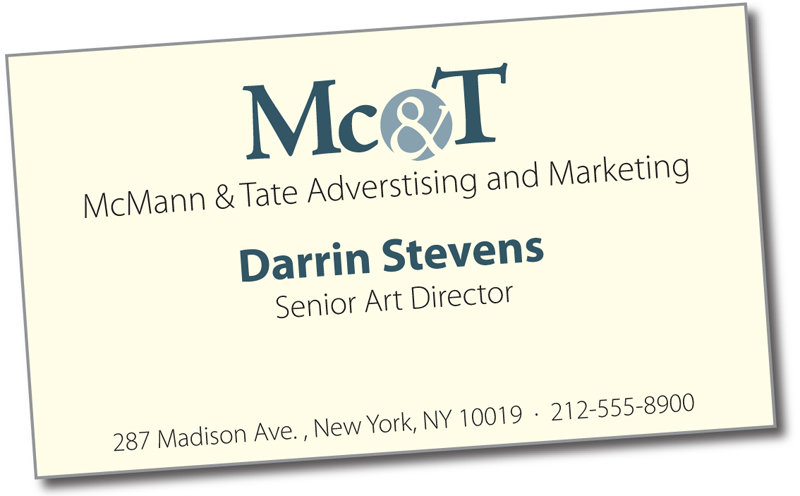 Bob canadas blogworld famous business cards heres a card from the mcmann tate advertising firm for many decades they were the number one ad agency in new york none of their other competitors colourmoves