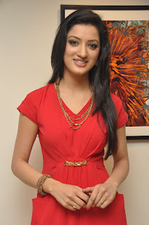 Richa Panai HD Photos in Red Dress