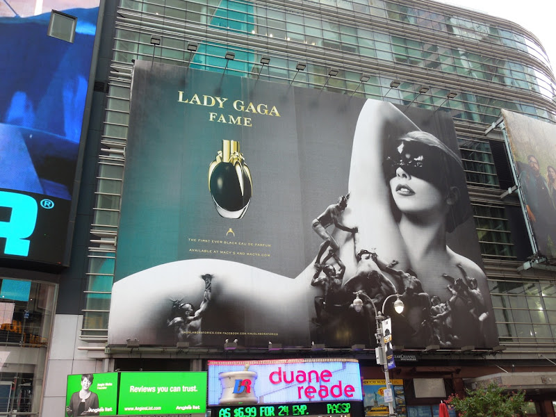 Lady Gaga Fame fragrance ad Times Square