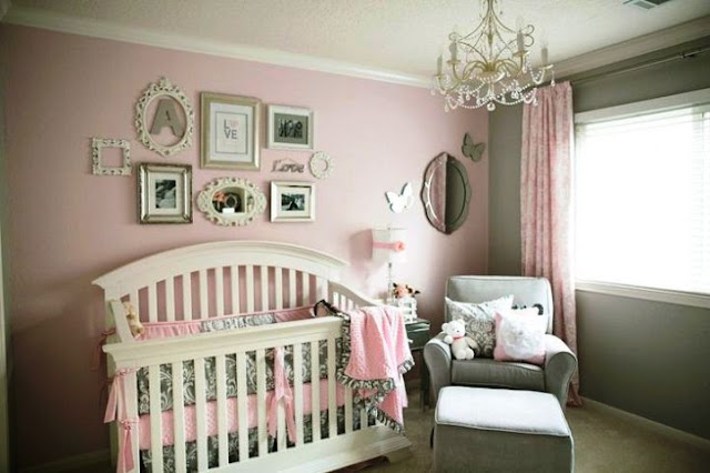 Wall paint color for baby girl room for Paint colors for girls bedroom