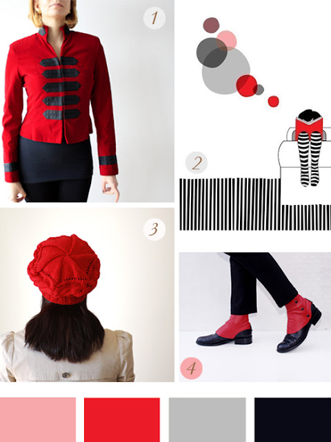 Monday Etsy Favorites Rojo y Negro