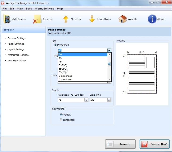 weeny image to pdf converter