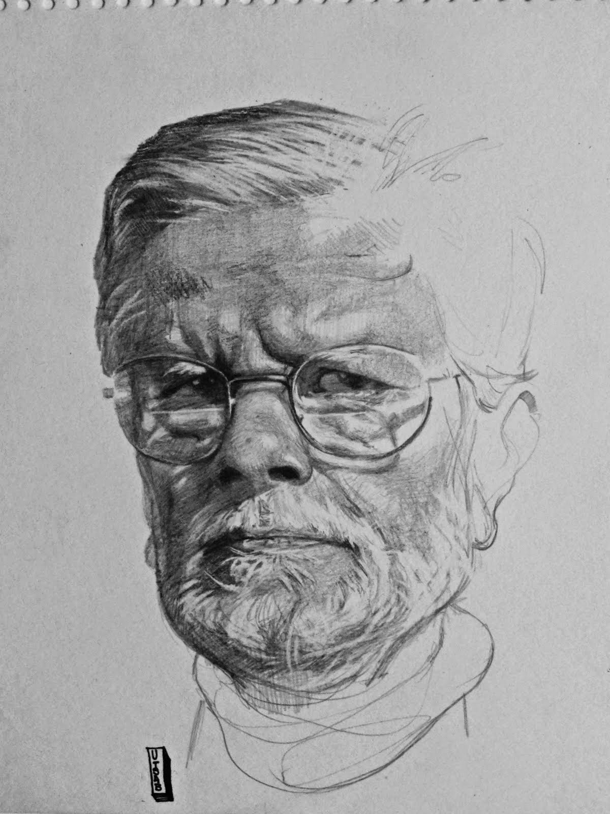 Malay Roychoudhury drawn by Utsab Chatterjee