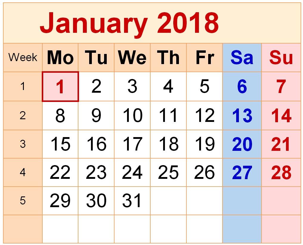 January 2018 Calendar Nakshatra New | 2018 January Calendar