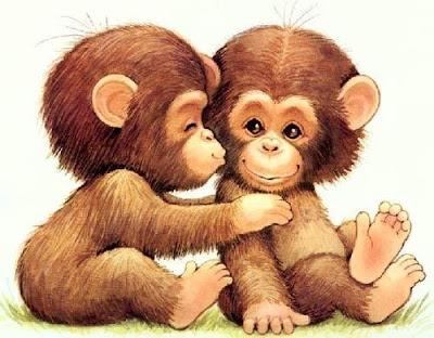 рисованные цветные обезьянки милые красивые