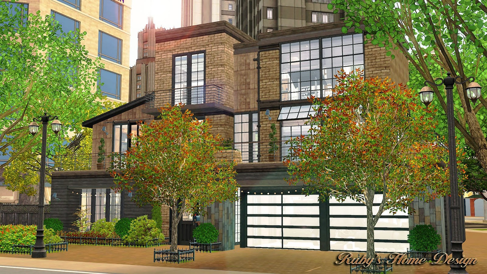 My sims 3 blog industrial chic lot by ruby red for Sims 3 home designs