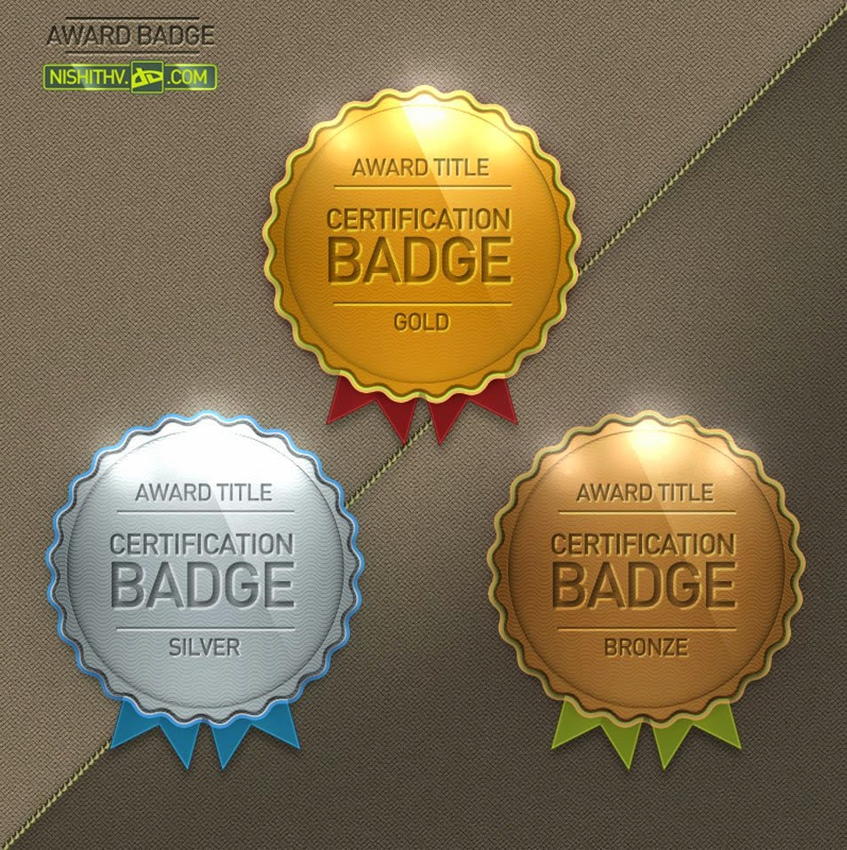 Award Badge PSD File