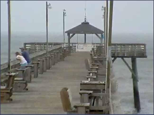 Ocean Crest Pier Cam Oak Island Nc