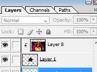 Image masking -  layers