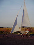 Carro a vela tipo velero.