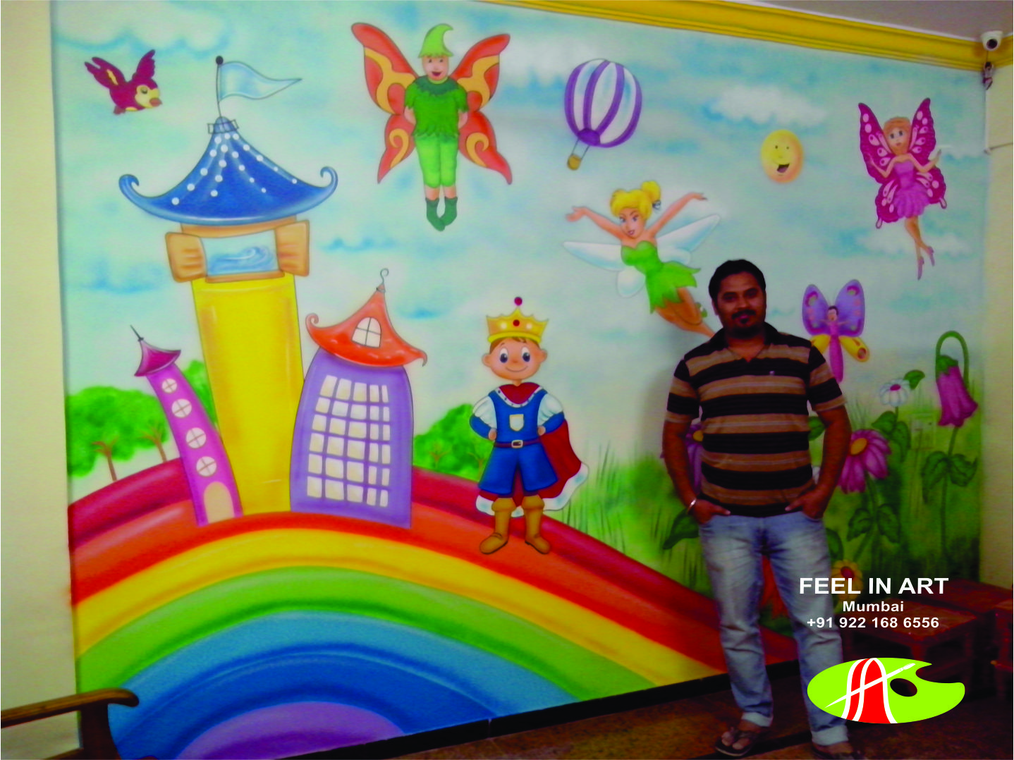 play school wall painting: children bedrooms and pre school