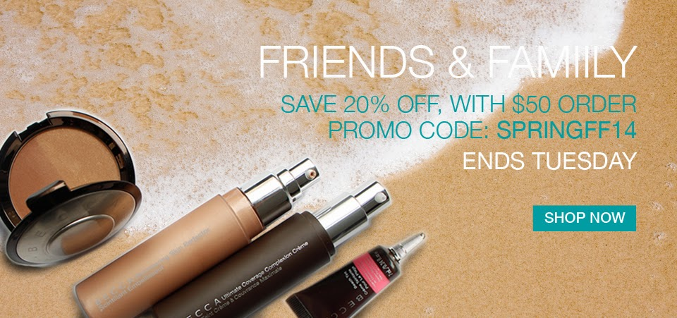 20% OFF BECCA Cosmetics Friends and Family Sale