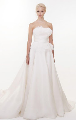Strapless Pepplum Gown