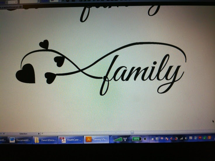 Family Tattoo I Created For A Friend She Wanted Family And Four