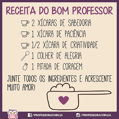 Receita do bom professor frases dia do professora
