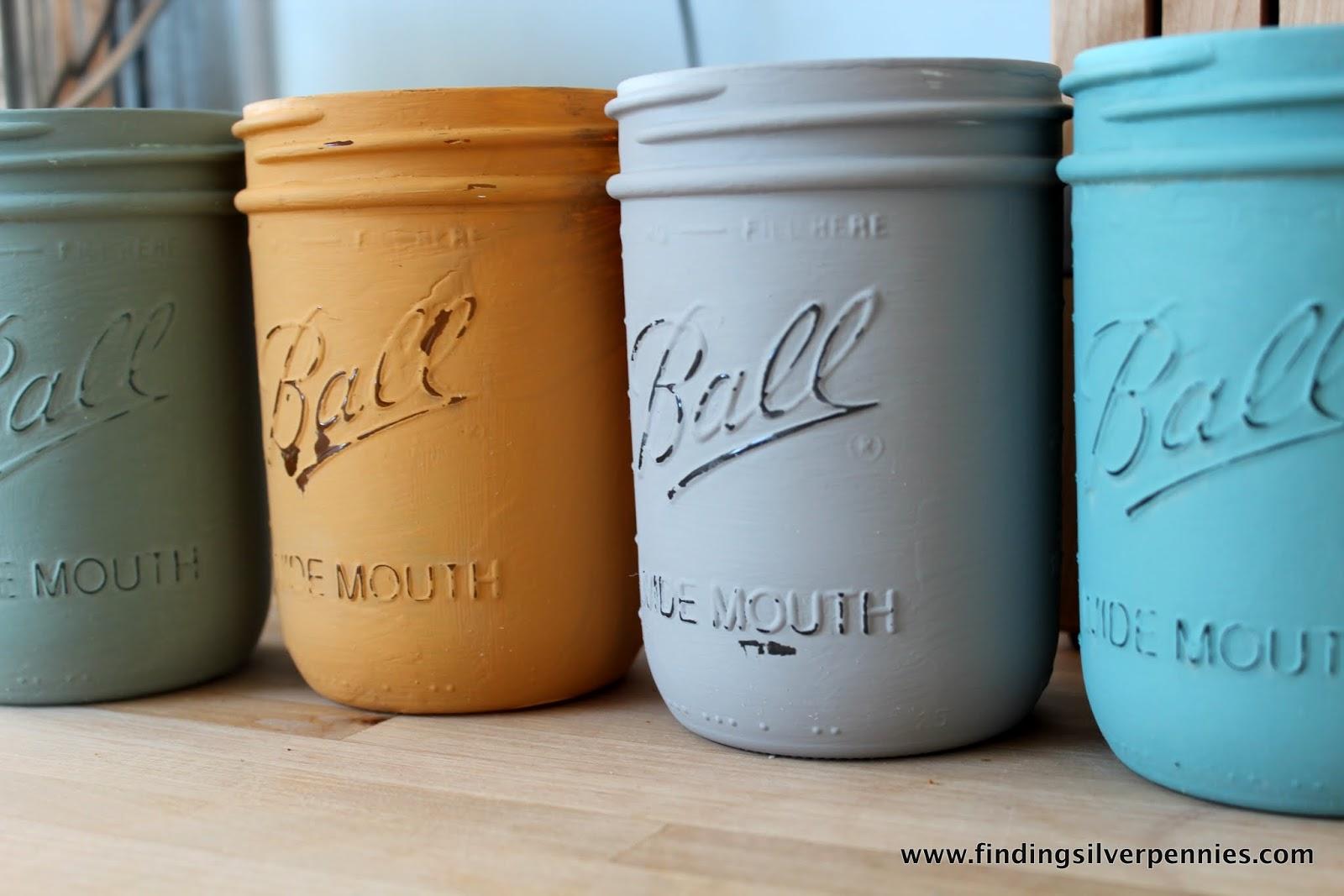 Painted Mason Jars Painted Mason Jars Finding Silver Pennies