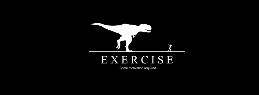 Facebook Quote Covers: Funny Facebook Cover on Exercise