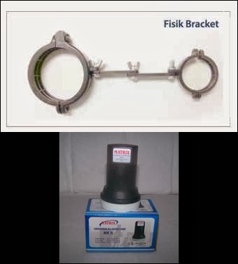 lnb ku band matrix + bracket