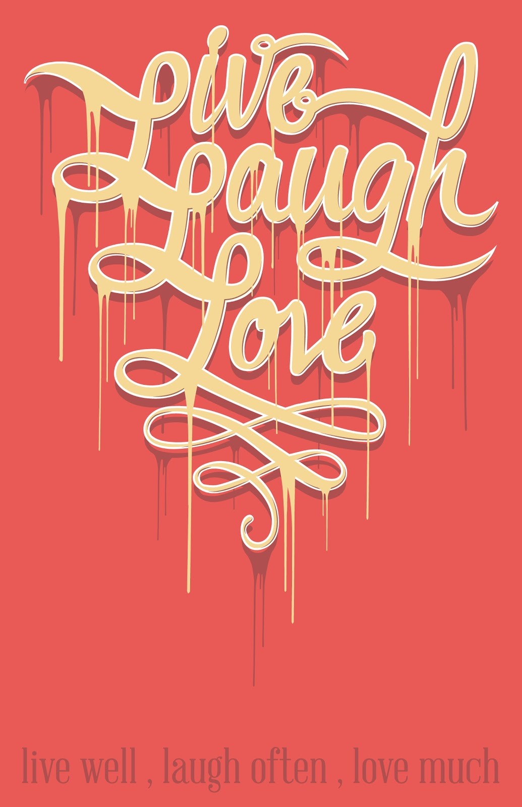 nam trandang portfolio live laugh love typography. Black Bedroom Furniture Sets. Home Design Ideas