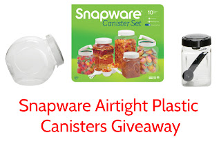 Snapware Airtight Plastic Canisters Giveaway