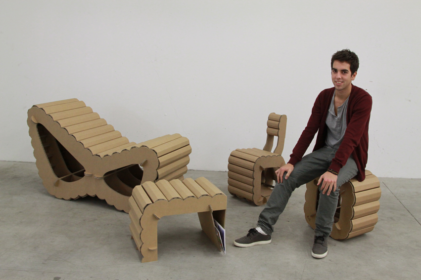 Carton kit cr ations objets et meubles 100 carton collection meuble carton concept tuiles - Meuble carton design ...