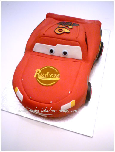 lightning mcqueen cake tutorial