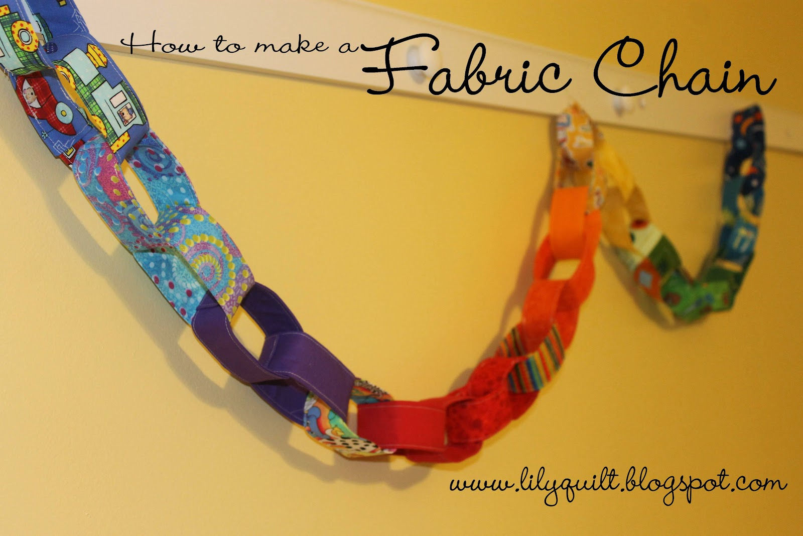 Lilyquilt Rainbow Fabric Chain Pattern And Tutorial