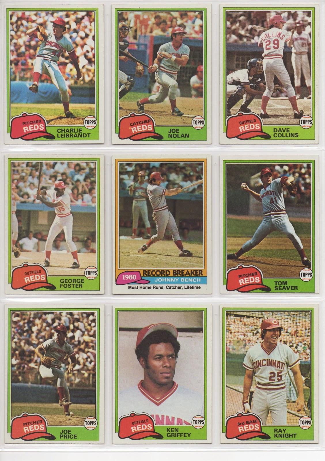 600 Johnny Bench 606 Cincinnati Reds Rookies 628 Vic Correll 655 Dan  Driessen 677 Cincinnati Reds Team Card 712 Bill Bonham 736 Larry Biittner