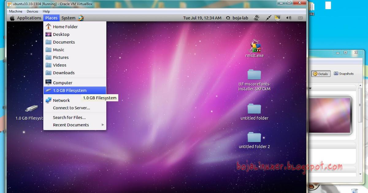 Cara Menggunakan USB - Flashdisk Pada VirtualBox