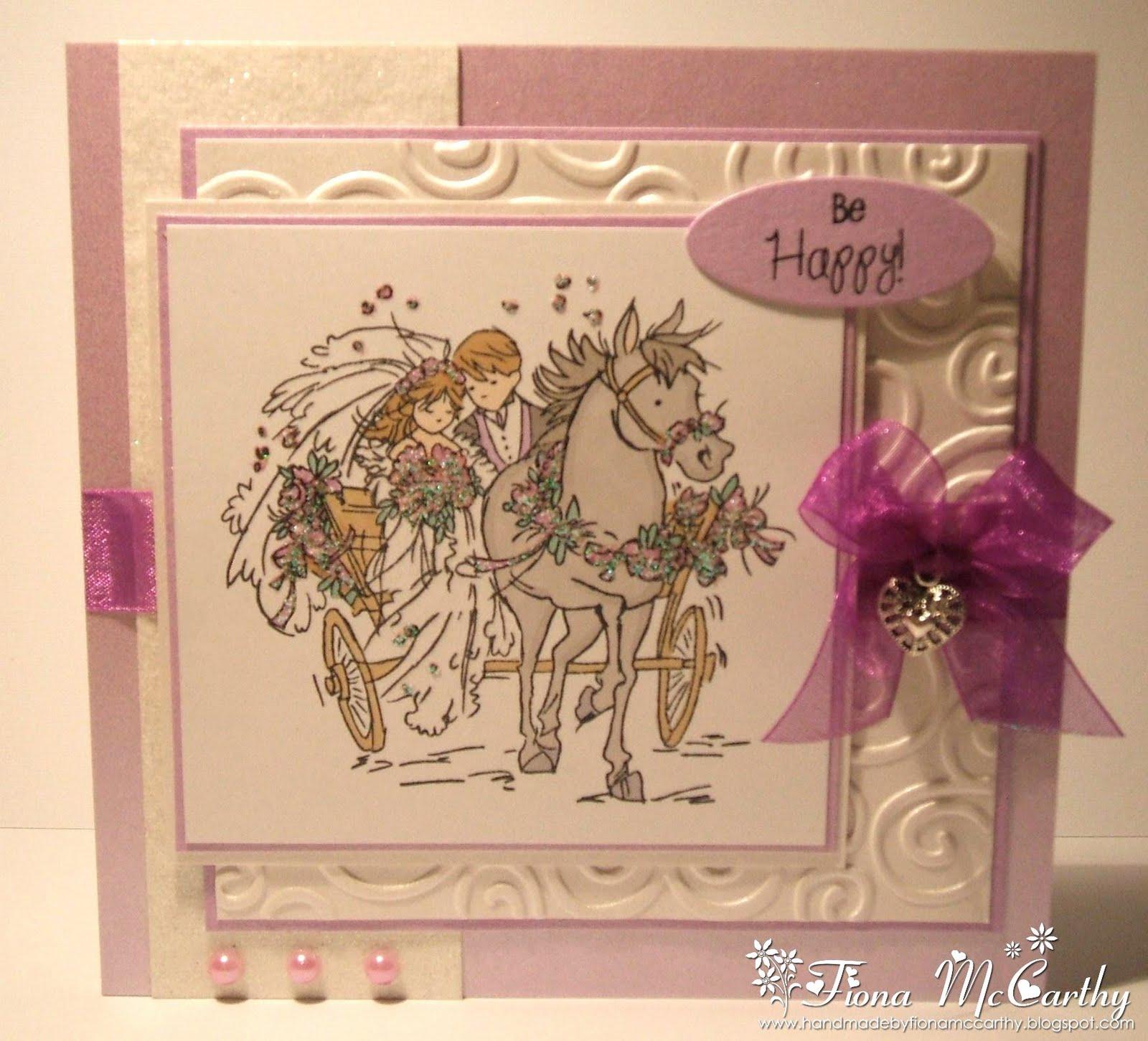 handmade by fiona mccarthy lotv wedding card