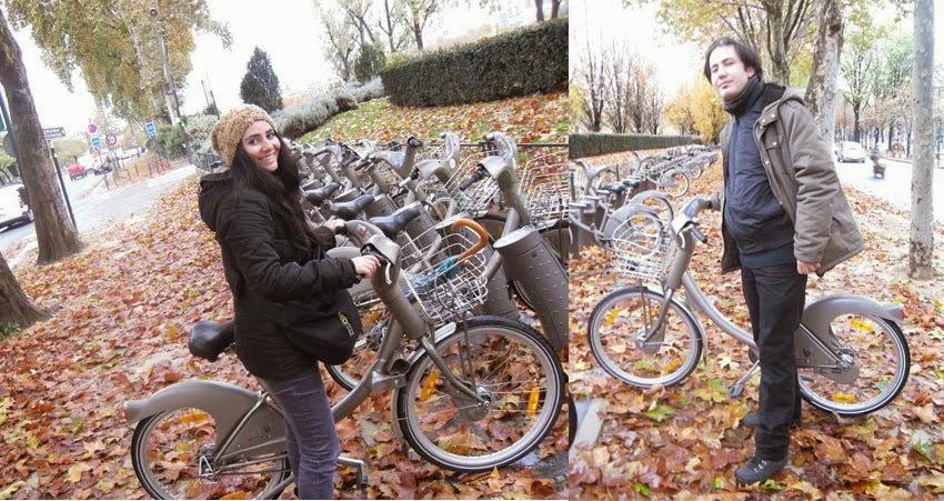 Paris Velib Bisiklet Sonbahar