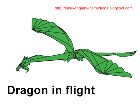 Download Origami Instructions - Dragon in FlightOrigami Dragon Instructions Advanced