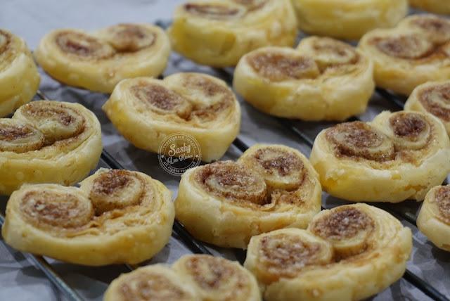 Palmier dari Puff Pastry Instan