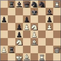 Partida de ajedrez Club Ajedrez Barcelona vs. Peña Rey Ardid de Bilbao, Torneo Postal Interclubs - 1958, posición después de 25.Cxe5!