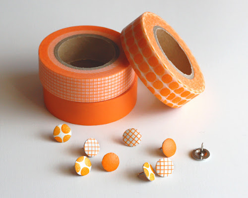Thumbtack washi tape idea