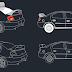 مجموعة بلوكات سيارات 2D اوتوكاد dwg