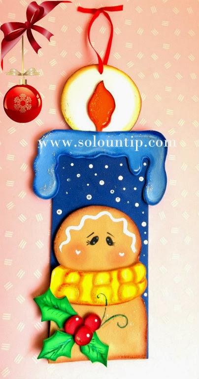 C mo hacer una vela navide a en goma eva for Velas navidenas