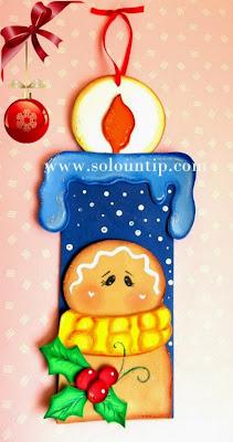 C mo hacer una vela navide a en goma eva - Trabajos manuales navidenos ...