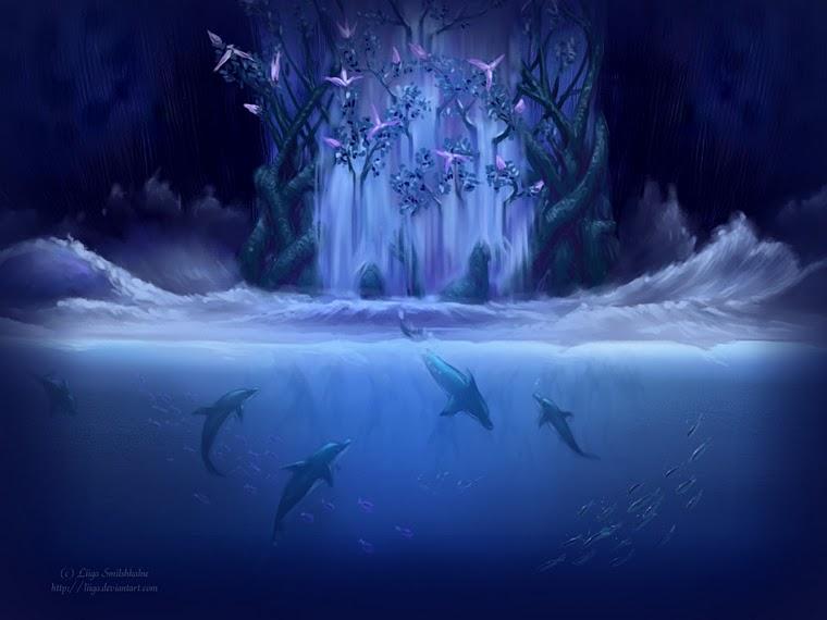 Delfines Con Movimiento Y Brillo
